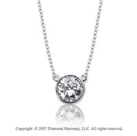 1/10 Carat Diamond Flat Loops 14k White Gold Solitaire Pendant