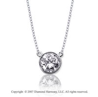 1/4 Carat Diamond Flat Loops 14k White Gold Solitaire Pendant
