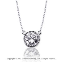 1/2 Carat Diamond Flat Loops 14k White Gold Solitaire Pendant