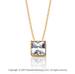2/5 Carat Diamond Box 14k Yellow Gold Solitaire Pendant