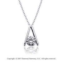 1/4 Carat Diamond Ladder 14k White Gold Solitaire Pendant