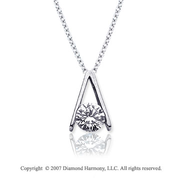 1/2 Carat Diamond Ladder 14k White Gold Solitaire Pendant