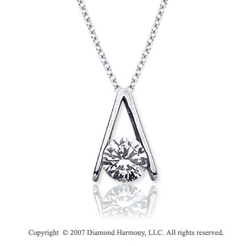 3/4 Carat Diamond Ladder 14k White Gold Solitaire Pendant