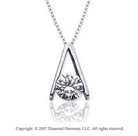 1 Carat Diamond Ladder 14k White Gold Solitaire Pendant