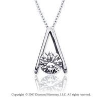 1 1/2 Carat Diamond Ladder 14k White Gold Solitaire Pendant