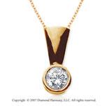 7/8 Carat Diamond Full Bail 14k Yellow Gold Solitaire Pendant