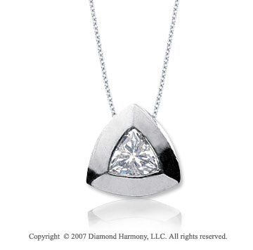 1/2 Carat Diamond Trillian 14k White Gold Solitaire Pendant
