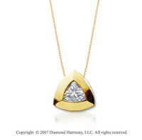 1/5 Carat Diamond Trillian 14k Yellow Gold Solitaire Pendant