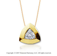 1/2 Carat Diamond Trillian 14k Yellow Gold Solitaire Pendant