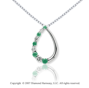 14k White Gold Stylish 1.00 Carat Green Diamond Pendant