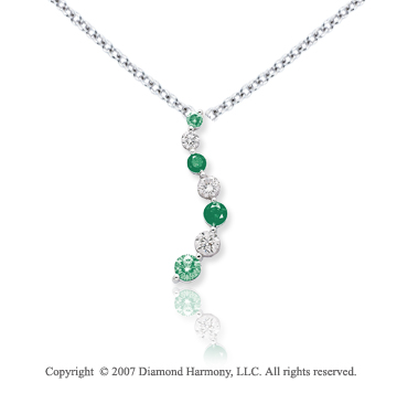 14k White Gold Prong 5.00 Carat Green Diamond Pendant