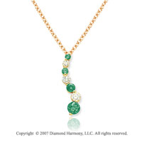14k Yellow Gold Prong 1 1/2 Carat Green Diamond Pendant