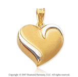 14k Yellow Gold Stylish Fashion Lovely Heart Pendant