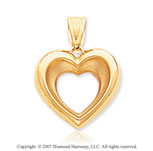 14k Yellow Gold Fine Elegance Lovely Open Heart Pendant
