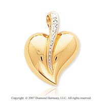 14k Yellow Gold Fine Smooth Stylish Sexy Heart Pendant