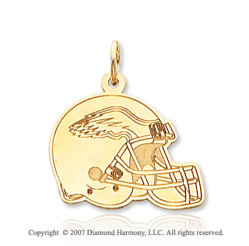 14k Yellow Gold Philadelphia Eagles Helmet Pendant