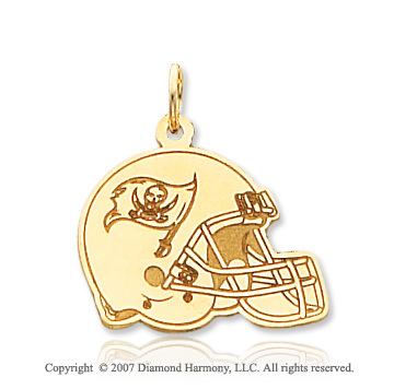 14k Yellow Gold Tampa Bay Buccaneers Helmet Pendant