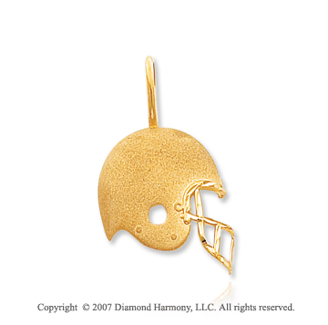 14k Yellow Gold Cleveland Browns Cast Helmet Pendant
