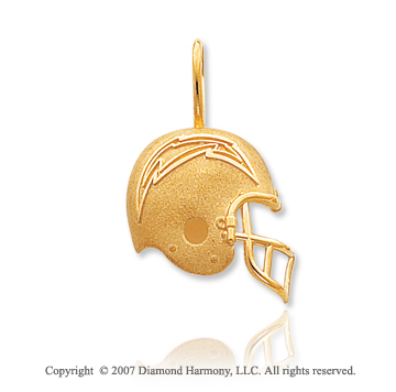 14k Yellow Gold San Diego Chargers Cast Helmet Pendant