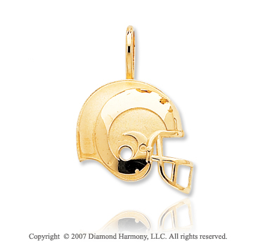14k Yellow Gold St. Louis Rams Cast Helmet Pendant