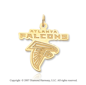 14k Yellow Gold Atlanta Falcons Stylish Logo Pendant