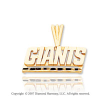 14k Yellow Gold New York GIANTS Spring Ring Pendant