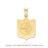 14k Yellow Gold Pittsburgh Steelers Fine Logo Pendant