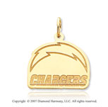 14k Y Gold San Diego Chargers Lighting Logo Pendant