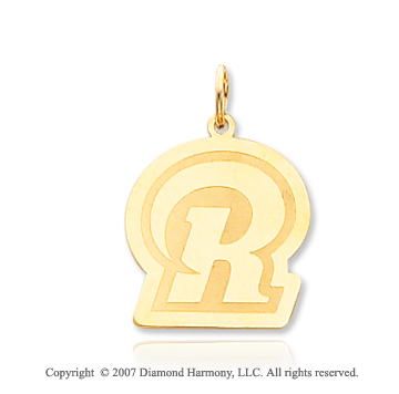 14k Yellow Gold St. Louis Rams Stylish Logo Pendant