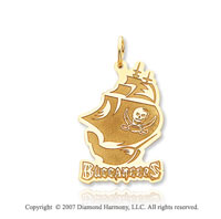 14k Y Gold Tampa Bay Buccaneers Pirate Ship Pendant