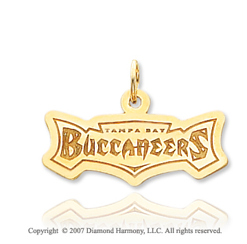14k Yellow Gold Tampa Bay Buccaneers Stylish Pendant