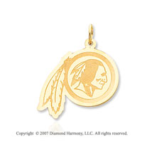 14k Y Gold Washington Redskins Stylized Image Pendant