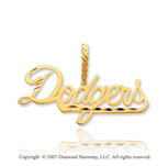 14k Yellow Gold Los Angeles Dodgers Classic Pendant