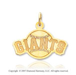 14k Yellow Gold Stylish San Francisco Giants Pendant