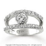 14k White Gold Center Stone 1.20 Carat Diamond Fashion Ring