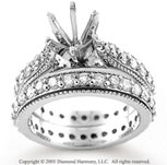 14k White Gold Prong 1.80 Carat Diamond Bridal Set