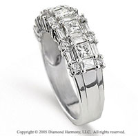 14k White Gold MultiCut 1.50 Carat Diamond Anniversary Band