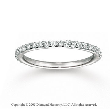 14k White Gold Classic Prong 2/5 Carat Diamond Stackable Ring