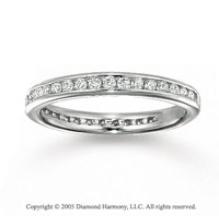 14k White Gold Round Channel 1/2 Carat Diamond Eternity Ring