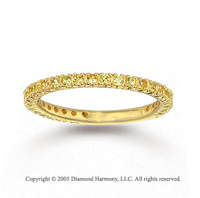 14k Yellow Gold Prong Yellow Sapphire Stackable Ring