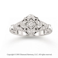 14k White Gold Majestic 0.20 Carat Diamond Fashion Ring