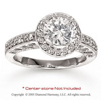 14k Prong Side Stone 0.40 Carat Diamond Engagement Ring