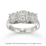 14k White Gold Elegant 0.90 Carat Diamond Fashion Ring