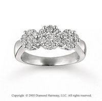 14k White Gold Prong 3/4 Carat Diamond Fashion Ring