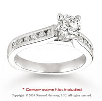14k White Gold Side Stone 2/5 Carat Diamond Engagement Ring