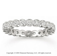 18k White Gold Round Bezel 0.80 Carat Diamond Eternity Ring