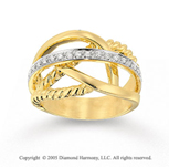 14k Yellow Gold Graceful Elegance Diamond Right Hand Ring