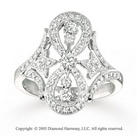 14k White Gold Splendid 1/2 Carat Diamond Fashion Ring