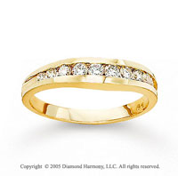 14k Yellow Gold Channel 1/2 Carat Diamond Anniversary Band