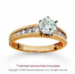 14k Yellow Gold Side Stone 0.40 Carat Diamond Engagement Ring